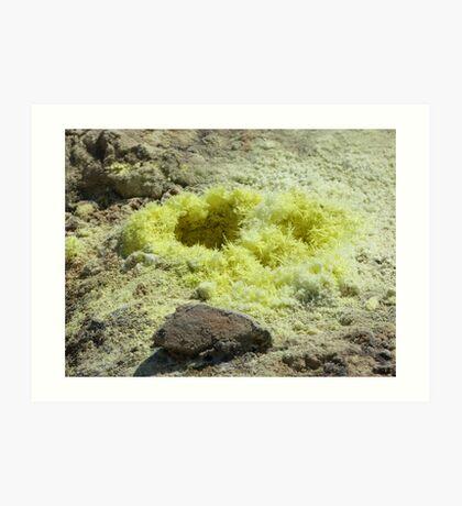 Sulfur Crystals Art Print