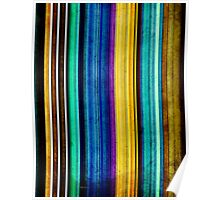 Colorful Stripes of Texture Poster