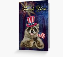 Thank You Raccoon Greeting Card