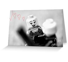 o.m.g. she loves me Greeting Card