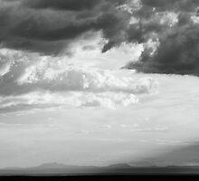 Storm light over the desert  by Roupen  Baker