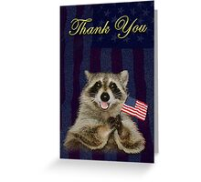 Thank You Raccoon Greeting Card