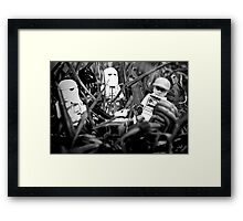 Lego celebrities get me outta here Framed Print