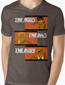 The Good, The Bad and The Boss - A Metal Gear Movie Mens V-Neck T-Shirt