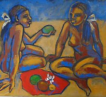 Two Women On The Beach - Femal Nude by CarmenT