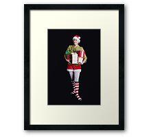Santa's Helper Merry Christmas Elf Card Framed Print