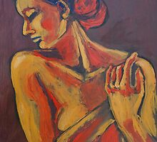 Mellow - Female Nude Portrait by CarmenT