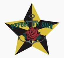 refuse to sink w star Kids Tee