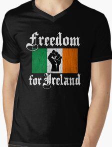 Freedom for Ireland (Vintage Distressed Design) Mens V-Neck T-Shirt