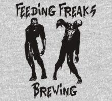 Feeding Freaks Brewing Black Logo Kids Tee