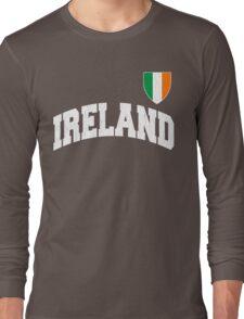 Classic IRELAND Football Jersey (Vintage Distressed) Long Sleeve T-Shirt