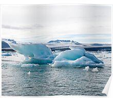 Icebergs, Jokulsarlon Poster