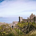 Ireland Panorama - Dunluce Castle by lesslinear