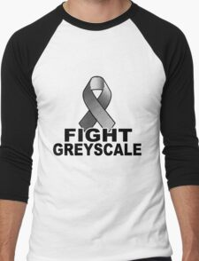 Fight Greyscale - LIGHT Men's Baseball ¾ T-Shirt
