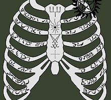 Supernatural - Dean Winchester's Ribcage by SedatedArtist