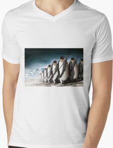 Penguin Army Mens V-Neck T-Shirt
