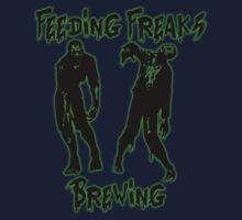 Feeding Freaks Brewing Green Logo Kids Tee
