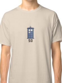 Doctor Who 50th Anniversary Pixel Tee Classic T-Shirt