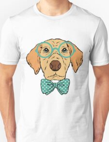 Hipster Dog Design T-Shirt