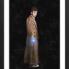 dr who framed oil painting (frame is image) by LokiLaufeysen