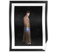 dr who framed oil painting (frame is image) Poster