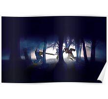 Splatter house pixel art Poster