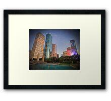 Colourful Houston Framed Print