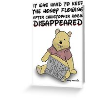 Winnie the Addict Greeting Card