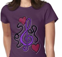 Purple My Heart's Plugged In To Music Womens Fitted T-Shirt