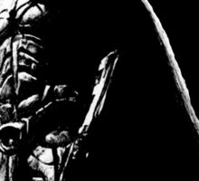 The Dark Knight (black background) Sticker