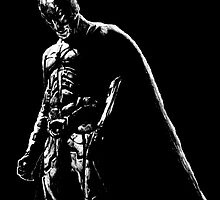 The Dark Knight (black background) by scoop314