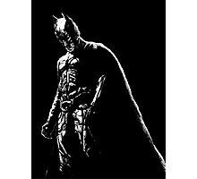 The Dark Knight (black background) Photographic Print