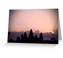 Sunrise @ Angkor Wat Greeting Card