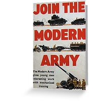 Join the Army Greeting Card