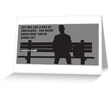 FORREST GUMP - CHOCOLATES Greeting Card