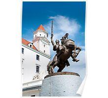 Statue of Svatopluk. Poster