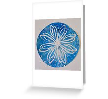 Gelli Print Flower 13 Greeting Card