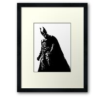 The Dark Knight (transparent background) Framed Print
