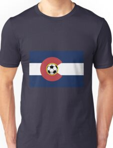 Colorado Soccer Flag Unisex T-Shirt