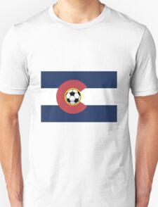 Colorado Soccer Flag Unisex T-Shirt