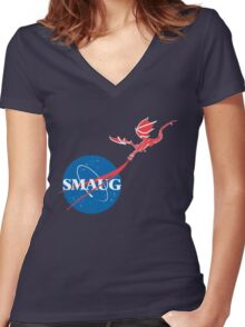 "Smaug ""Meatball""  Women's Fitted V-Neck T-Shirt"