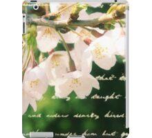 Beautiful Cherry Blossoms Antique Handwritten Letter Overlay iPad Case/Skin