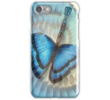 Blue Butterfly Guitar iPhone Case/Skin
