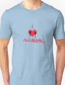 I <3 Dual Pistols (red & black) T-Shirt