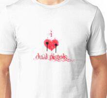 I <3 Dual Pistols (red & black) Unisex T-Shirt