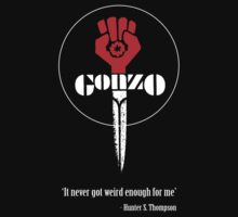 Gonzo - Hunter S Thompson - It never got weird enough for me by tshirtsfunny