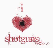 I <3 Shotguns (red & black) by Jess Meacham