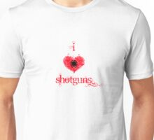 I <3 Shotguns (red & black) Unisex T-Shirt