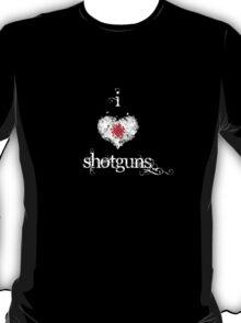 I <3 Shotguns (white  & red) T-Shirt