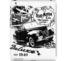 Vintage 40 Ford - Black iPad Case/Skin